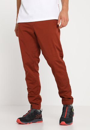 NOTION PANTS - Spodnie materiałowe - brick