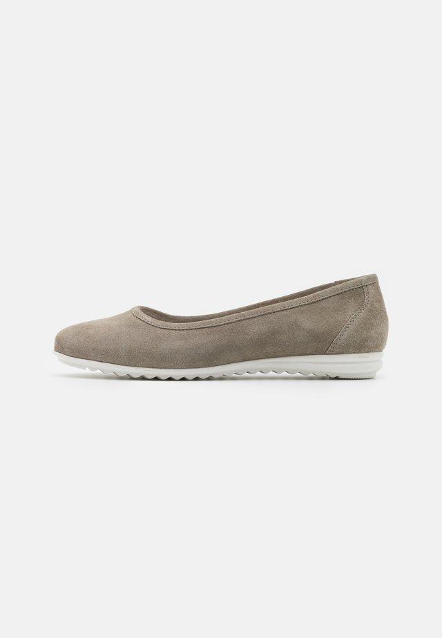LEATHER COMFORT - Ballet pumps - grey