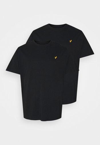 2 PACK - T-shirt - bas - black/black