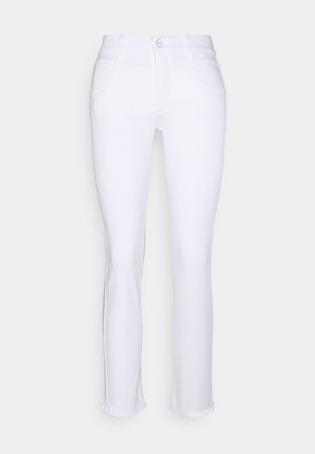 MID RISE ANKLE - Trousers - white