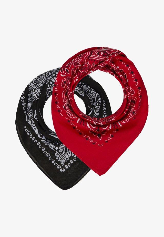 2 PACK BANDANA - Foulard - black/red