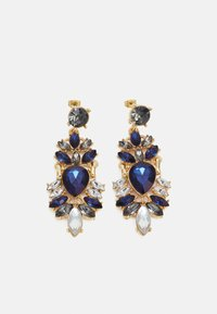 Pieces - PCLAURA EARRINGS - Earrings - gold-coloured/blue/clear - 0