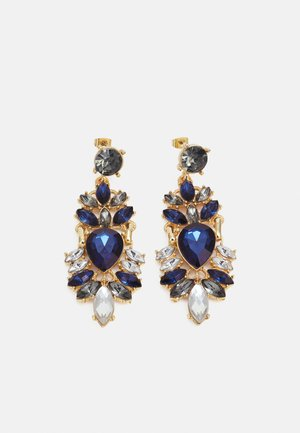 PCLAURA EARRINGS - Earrings - gold-coloured/blue/clear