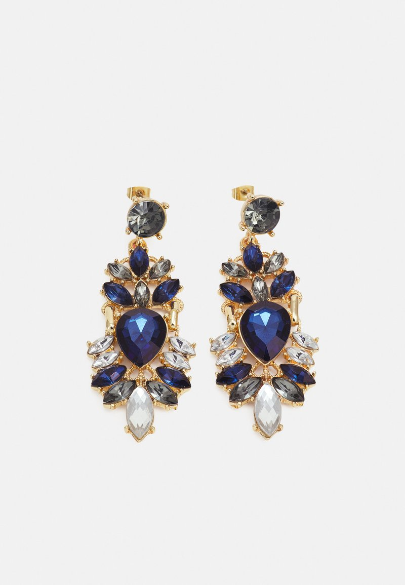 Pieces - PCLAURA EARRINGS - Earrings - gold-coloured/blue/clear