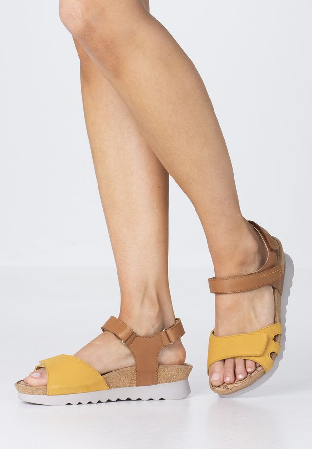 Walking sandals - ochre
