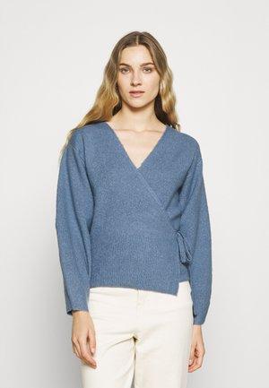 DOLLY WRAP CARDIGAN BALLOON SLEEVES - Cardigan - pale blue