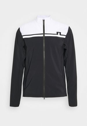 BLOCKED LOGO GOLF JACKET - Outdoorová bunda - black