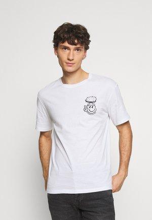 JORBRAIN TEE CREW NECK - T-shirt med print - white