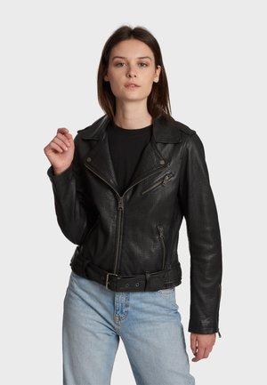 SELF - Leather jacket - black