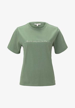 Stickerei - Print T-shirt - vintage green