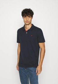 TOM TAILOR - WITH CONTRAST - Polo shirt - dark blue - 0
