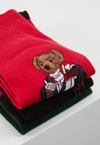 Polo Ralph Lauren - COCOA BEAR 3 PACK - Chaussettes - red/green/black - 3