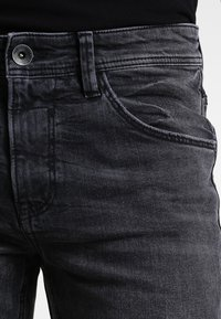 TOM TAILOR DENIM - CULVER  - Slim fit jeans - dark stone black denim - 3