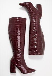 Miss Selfridge - OLYMPIA POINT STRAIGHT SHAFTKNEE HIGH - Stiefel - burgundy - 3