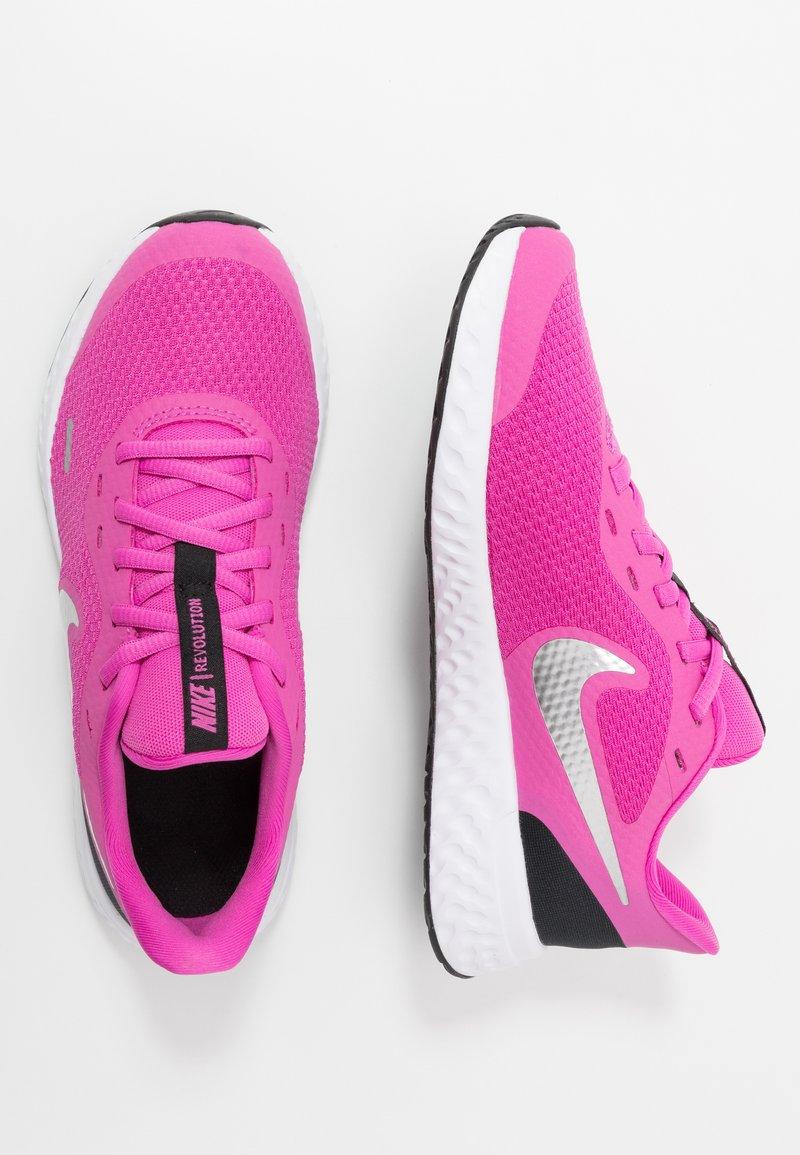 Nike Performance - REVOLUTION 5 UNISEX - Neutral running shoes - active fuchsia/metallic silver/black