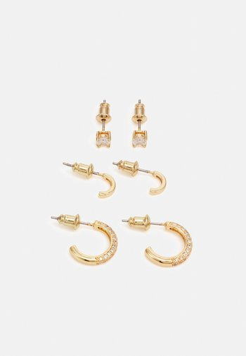 MENDADER GOLD PLATED 3 PACK - Earrings - clear on/gold-coloured