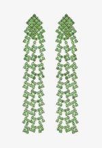 PCDICTE EARRINGS - Earrings - silver-coloured/green ash