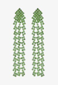 Pieces - PCDICTE EARRINGS - Øredobber - silver-coloured/green ash - 3