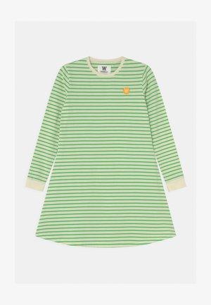 AYA DRESS - Žerzejové šaty - off-white/green