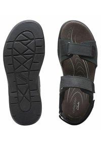 Clarks - CREEK - Walking sandals - black leather - 3