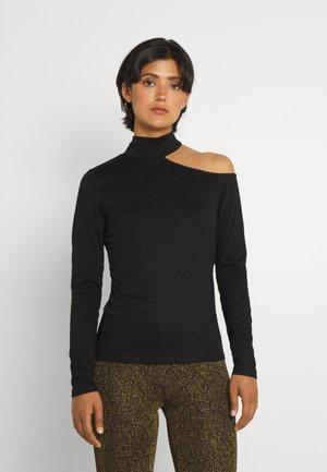 VIFREDERIKKA ONE SHOULDER - Long sleeved top - black