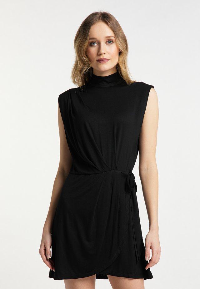 Sukienka z dżerseju - schwarz