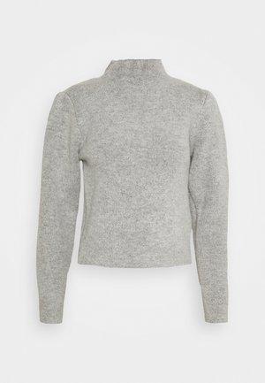HIGH NECK PLEAT SLEEVE - Stickad tröja - grey
