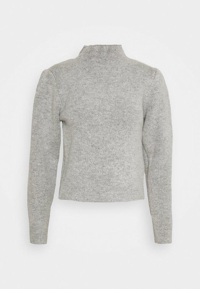 HIGH NECK PLEAT SLEEVE - Strikkegenser - grey