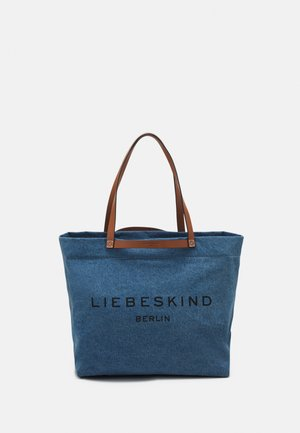 AURORA ZIP - Tote bag - blue denim