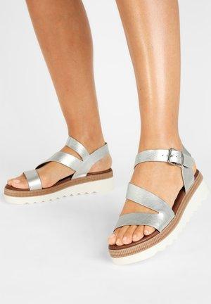 Platform sandals - silver slv