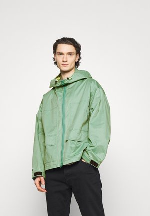 DOUBLE POCKET COATED JACKET - Summer jacket - ocean stone