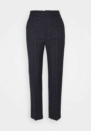 NICA PINSTRIPE TROUSER - Trousers - navy