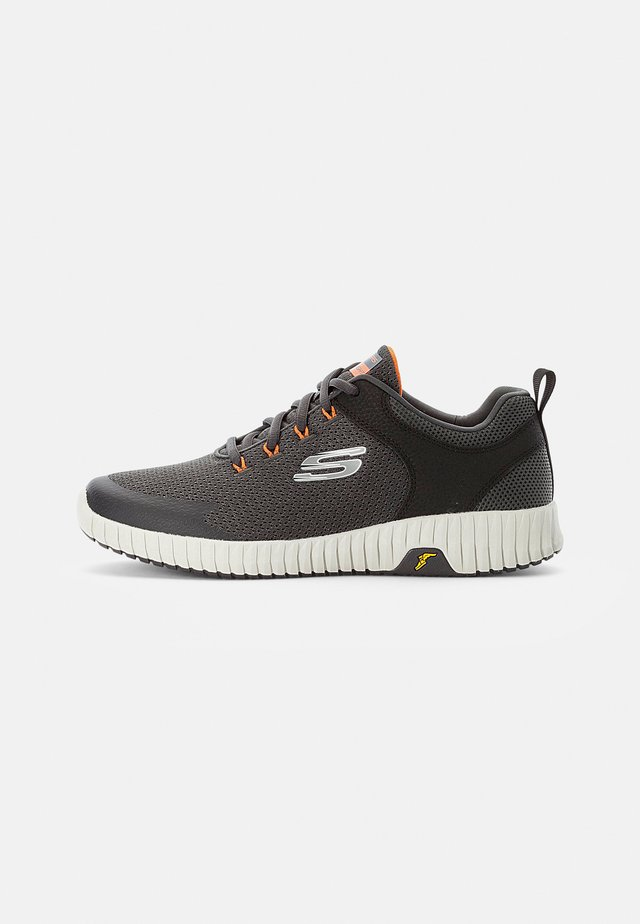 ELITE FLEX PRIME TAKE OVER - Sneakersy niskie - charcoal mesh/pu/orange trim