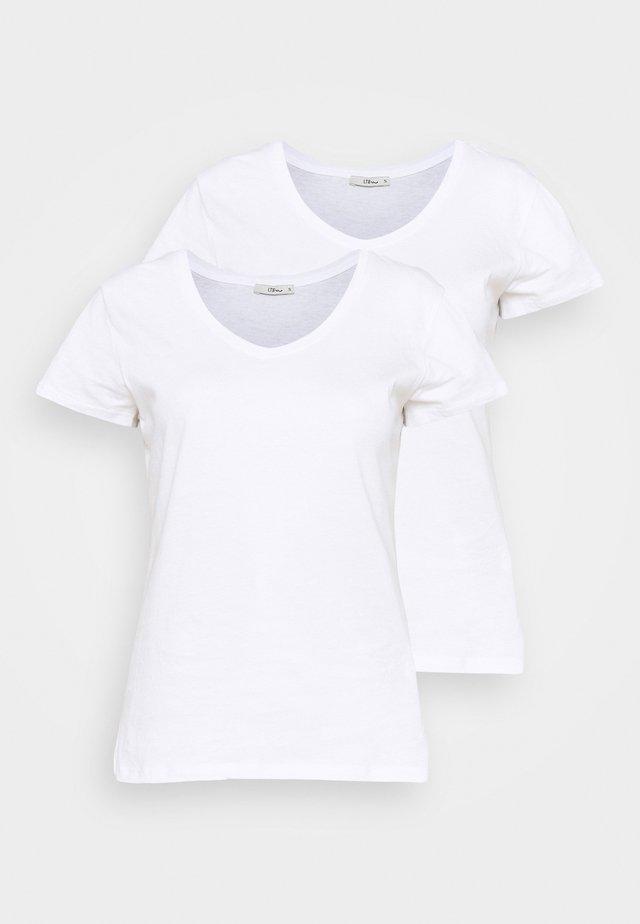 FASOMA2 PACK - Jednoduché triko - white
