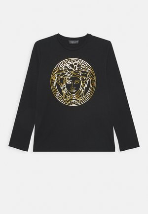 MAGLIETTA MANICA LUNGA - Long sleeved top - nero/oro