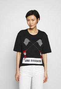 Love Moschino - Triko spotiskem - black - 0