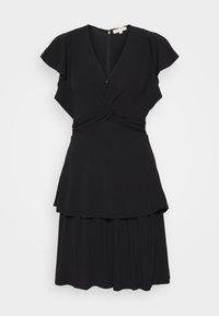 MICHAEL Michael Kors - TWIST RUFFLE DRESS - Jersey dress - black - 0