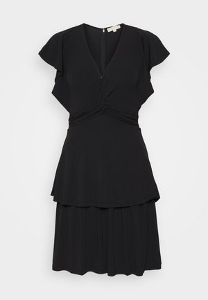 TWIST RUFFLE DRESS - Jersey dress - black