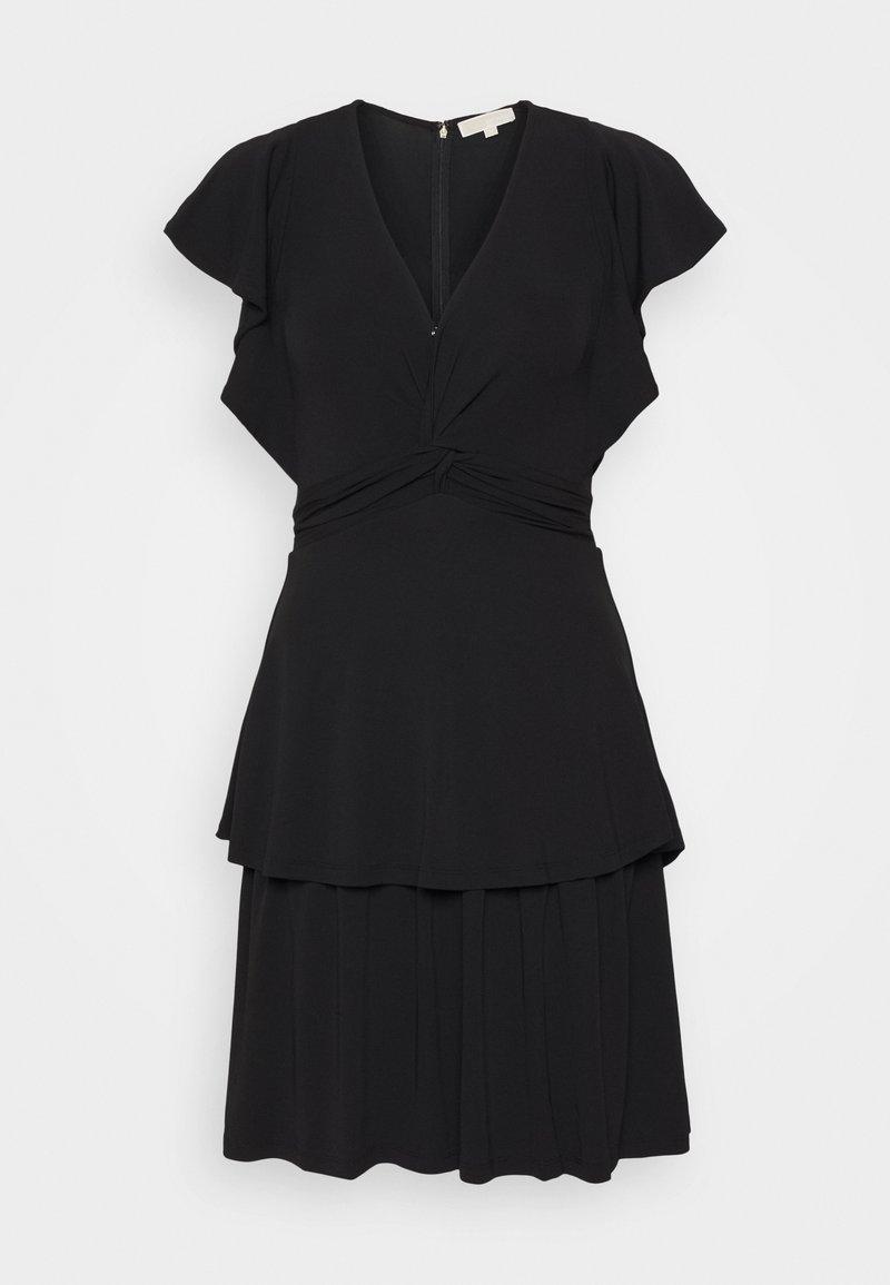 MICHAEL Michael Kors - TWIST RUFFLE DRESS - Jersey dress - black