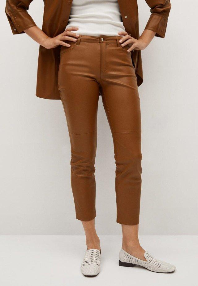 LILLE - Broek - medium brown