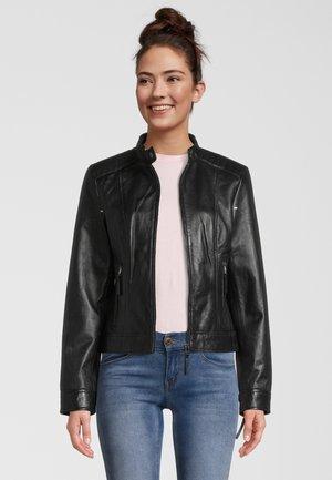 INES - Leather jacket - black