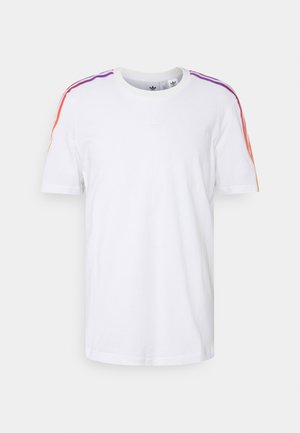 SPORT 3 STRIPE COLLECTION ORIGINALS - Camiseta estampada - white/multicolor