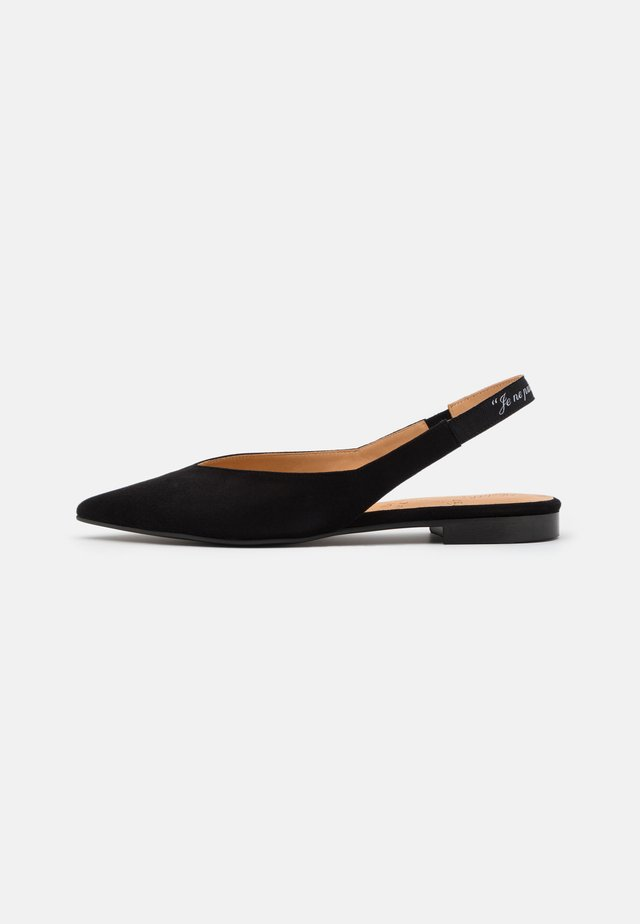SLING BACK - Baleriny - black