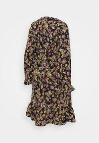 MAMALICIOUS - MLEMRA WOVEN DRESS  - Day dress - black/snow white / fall leaf /dewberry - 6