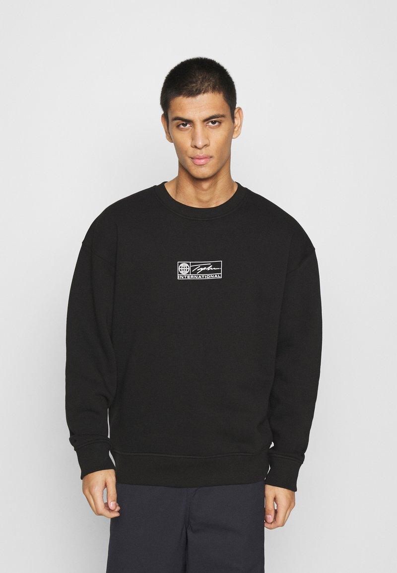 Topman - BARCODE GRAPHIC  - Sweatshirt - black
