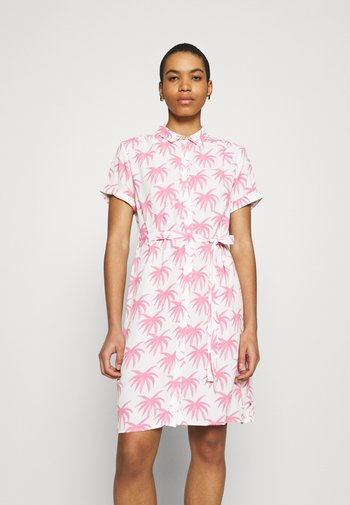 BOYFRIEND CARA DRESS - Košilové šaty - white/pink