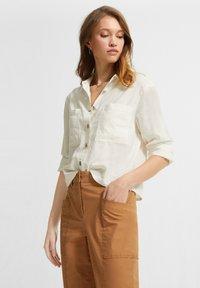 comma casual identity - Button-down blouse - white - 3