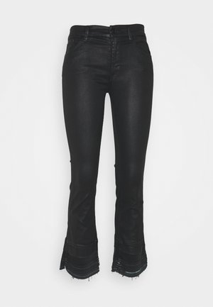 CROPPED BOOT UNROLLED - Bootcut jeans - black