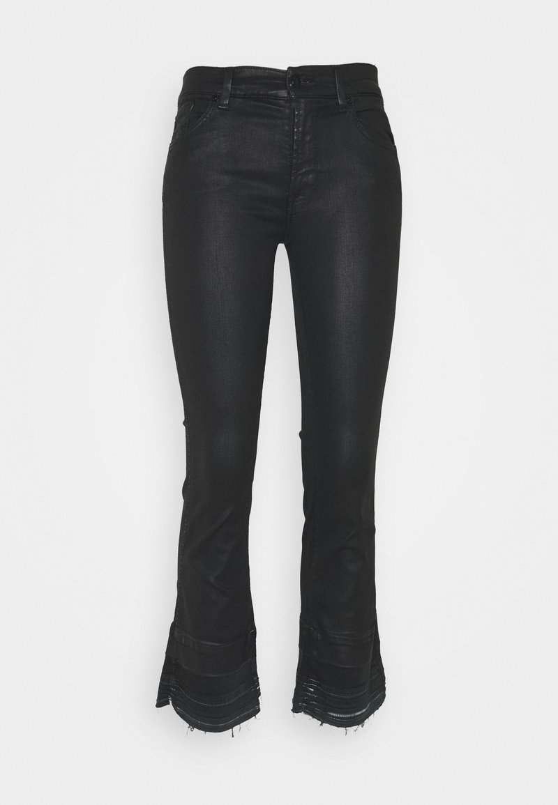 7 for all mankind - CROPPED BOOT UNROLLED - Bootcut jeans - black