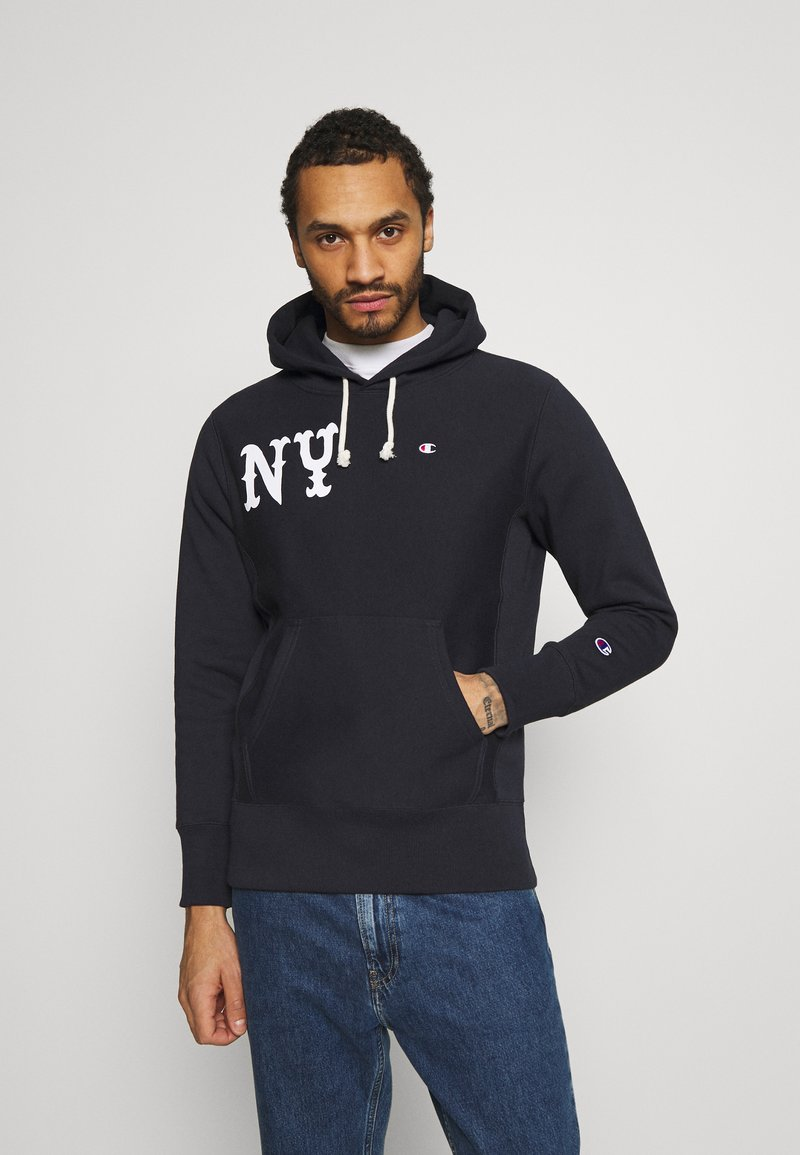 Champion Reverse Weave - HOODED NEW YORK - Sweatshirt - dark blue
